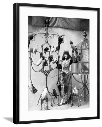 Madame Marzella with Her Pets, at the Tivoli, 1896--Framed Art Print