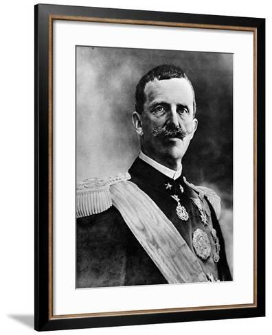 King Victor Emmanuel III--Framed Art Print