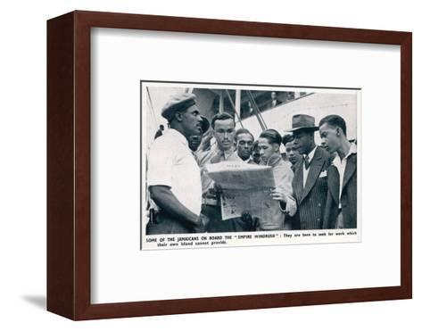 Jamaicans on Board the Empire Windrush--Framed Art Print