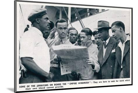 Jamaicans on Board the Empire Windrush--Mounted Photographic Print