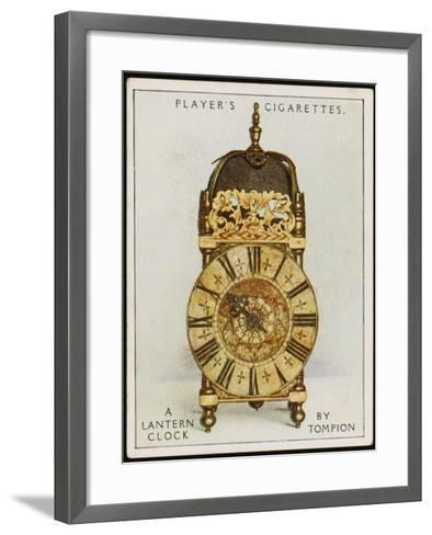 Lantern Clock by Thomas Tompion, the Father of English Clock-Making--Framed Art Print