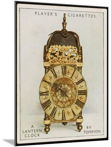 Lantern Clock by Thomas Tompion, the Father of English Clock-Making--Mounted Photographic Print