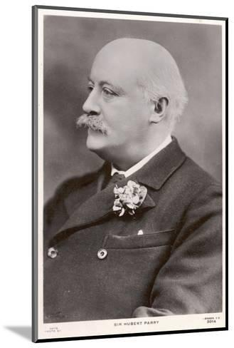 Charles Hubert Parry, English Composer--Mounted Photographic Print