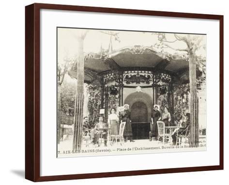 Refreshment Bar (Tap Room) of the Source De St. Simon - Aix-Les-Bains (Savoie), France--Framed Art Print