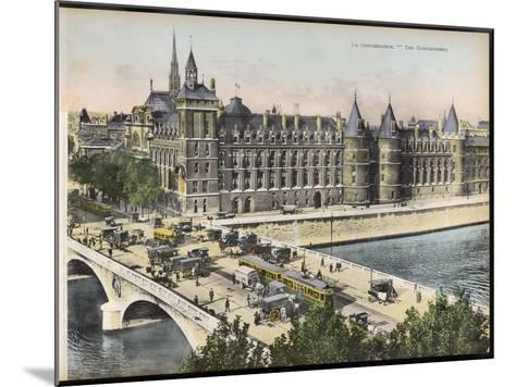 La Conciergerie, with the Pont Au Change Full of Traffic--Mounted Photographic Print