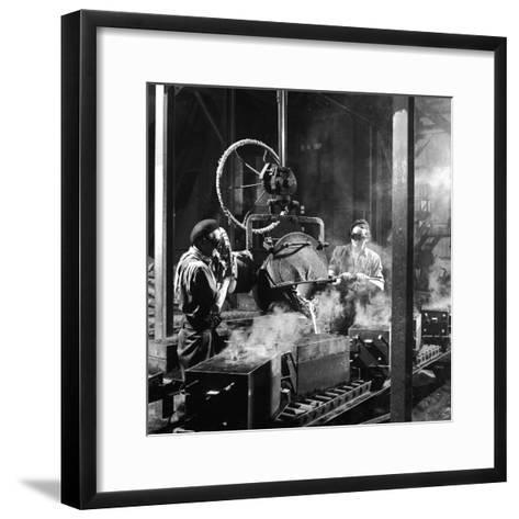 Molten Metal on a Production Line-Heinz Zinram-Framed Art Print