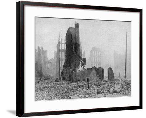 SF Earthquake Photograph--Framed Art Print