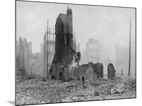 SF Earthquake Photograph--Mounted Photographic Print