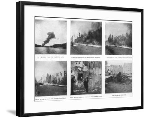 Scenes from the Devastating Fire at the Bazar De La Charite in Paris--Framed Art Print