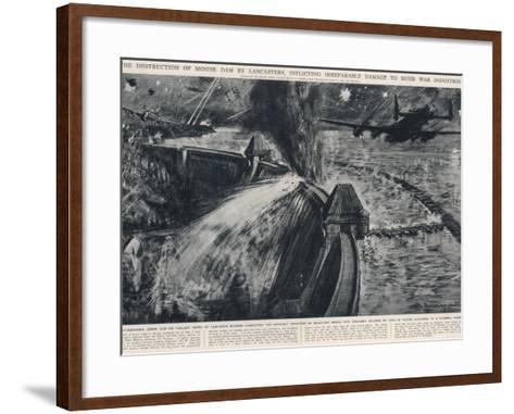RAF Bombers Breaching the Mohne Dam; Second World War, 1943--Framed Art Print