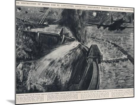RAF Bombers Breaching the Mohne Dam; Second World War, 1943--Mounted Photographic Print