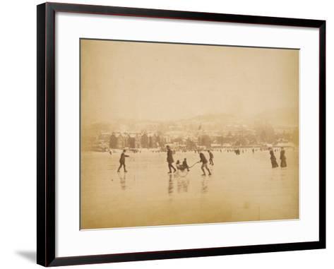 Skating on Windermere--Framed Art Print