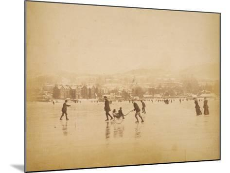 Skating on Windermere--Mounted Photographic Print