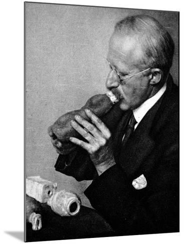 Sir Richard Paget, Speaking Through an Artifical Throat--Mounted Photographic Print