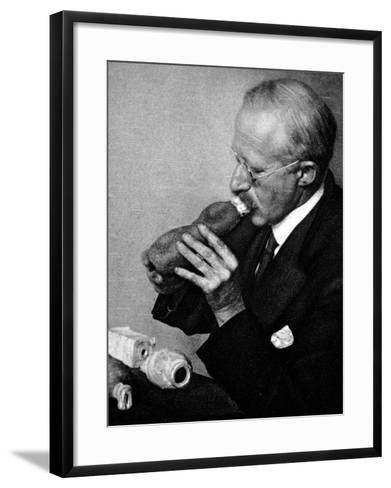 Sir Richard Paget, Speaking Through an Artifical Throat--Framed Art Print