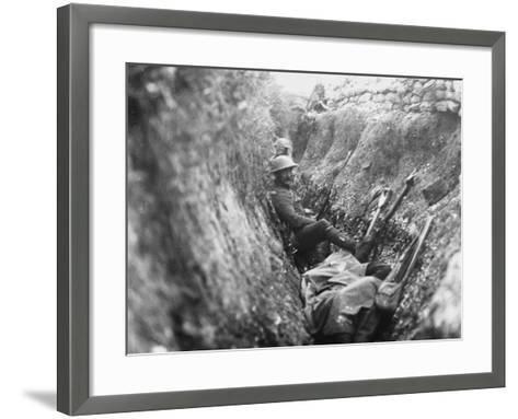 Somme Trench 1916-Robert Hunt-Framed Art Print