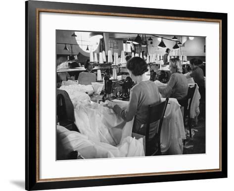 Parachute Factory WWII-Robert Hunt-Framed Art Print