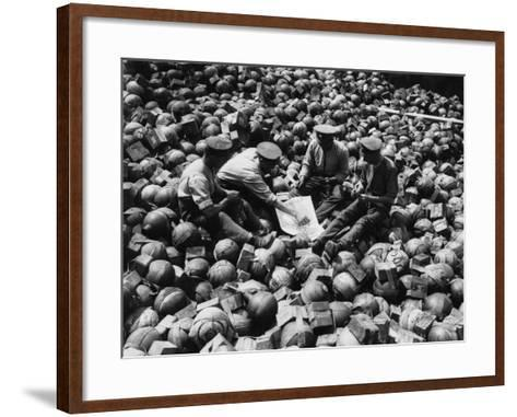 Mortar Pile 1916-Robert Hunt-Framed Art Print