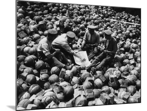 Mortar Pile 1916-Robert Hunt-Mounted Photographic Print