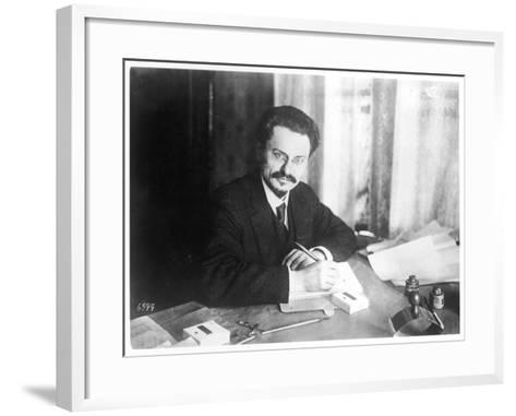 Leon Trotsky Russian Statesman, at Brest- Litovsk 1918--Framed Art Print