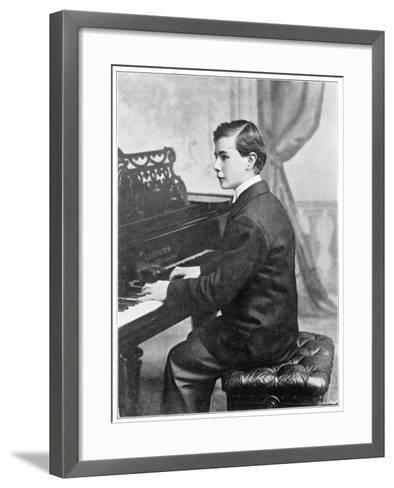 Josef Hofmann Polish Musician--Framed Art Print