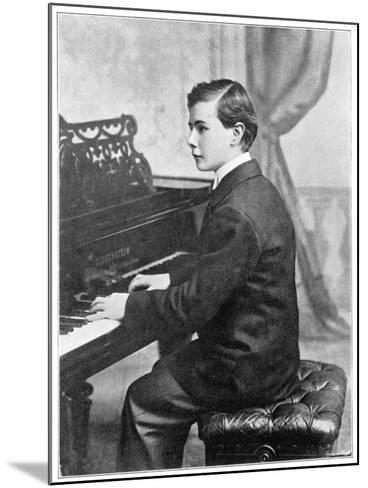 Josef Hofmann Polish Musician--Mounted Photographic Print