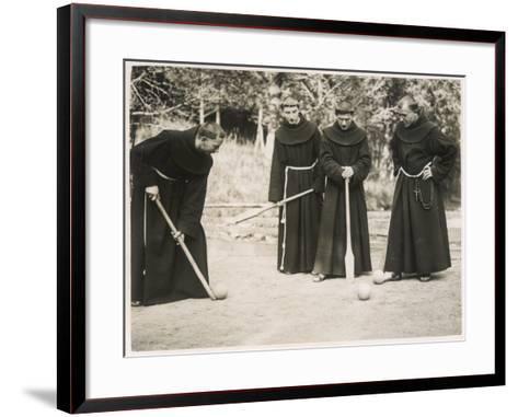 Monks Playing Game--Framed Art Print
