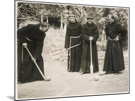 Monks Playing Game--Mounted Photographic Print