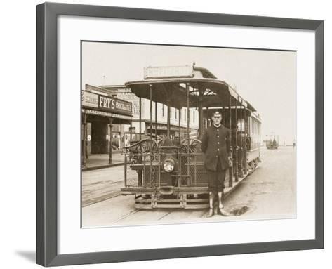 Melbourne Cable Tram and Driver--Framed Art Print