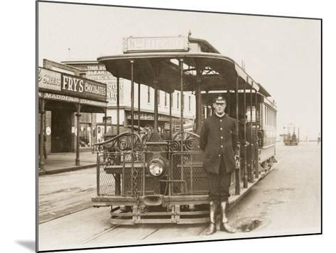Melbourne Cable Tram and Driver--Mounted Photographic Print