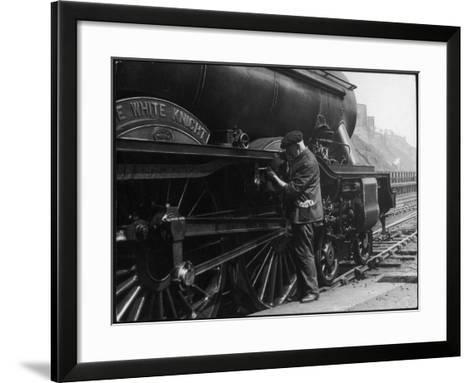 Locomotive Maintenance--Framed Art Print