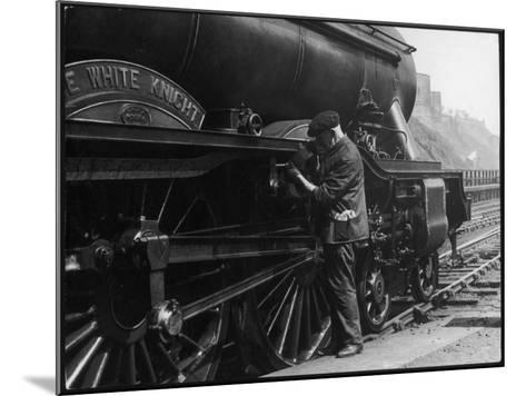 Locomotive Maintenance--Mounted Photographic Print
