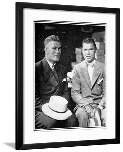 Jack Dempsey and Gene Tunney, 1926--Framed Art Print