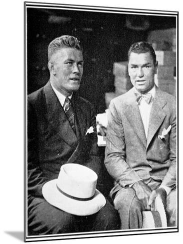 Jack Dempsey and Gene Tunney, 1926--Mounted Photographic Print