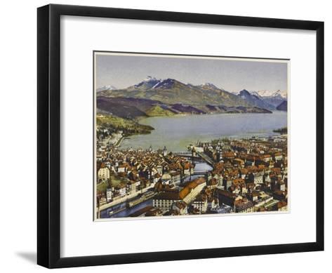 Lucerne: Vierwaldstattersee and the Rigi--Framed Art Print