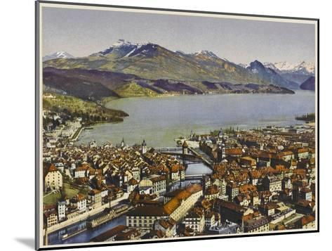 Lucerne: Vierwaldstattersee and the Rigi--Mounted Photographic Print