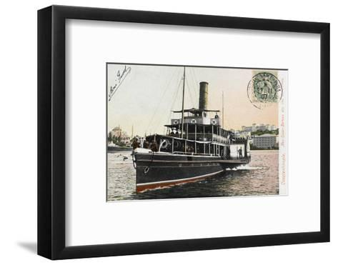 Nev-Esser - the Ferryboat from Istanbul to the Princes Islands--Framed Art Print