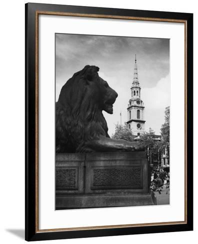 Landseer Lion--Framed Art Print