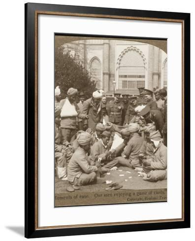 Soldiers Relaxing WWI--Framed Art Print