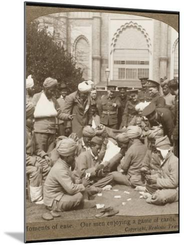 Soldiers Relaxing WWI--Mounted Photographic Print