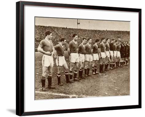 Manchester United Team before the Air Disaster at Munich--Framed Art Print