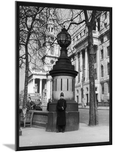 London Police Box--Mounted Photographic Print