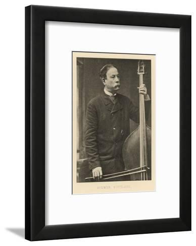 Italian Bass-Player--Framed Art Print