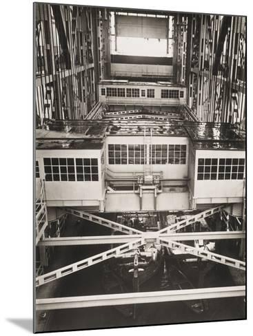Niederfinow Boat Lift in the Berlin Shipyards, Germany in 1934-Robert Hunt-Mounted Photographic Print