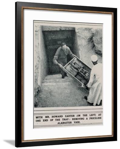 Howard Carter Removing Treasures from the Tomb of Tutankhamun--Framed Art Print