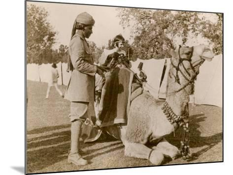 In India During the Raj, There Was No Need for Children to Go to a Zoo for a Camel Ride--Mounted Photographic Print