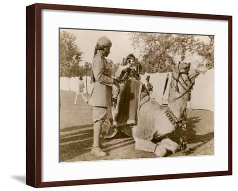In India During the Raj, There Was No Need for Children to Go to a Zoo for a Camel Ride--Framed Art Print