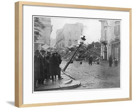 Messina, Sicily Street Scene after the 'Quake--Framed Art Print