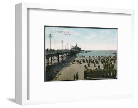 Scheveningen: Beach and Pier--Framed Art Print