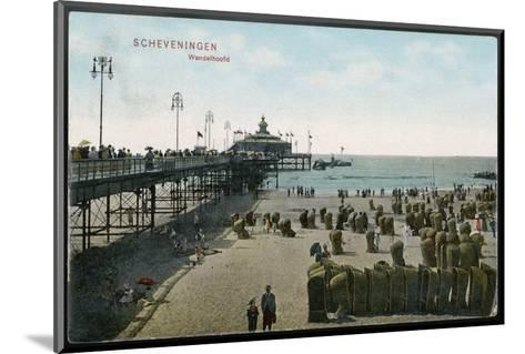Scheveningen: Beach and Pier--Mounted Photographic Print